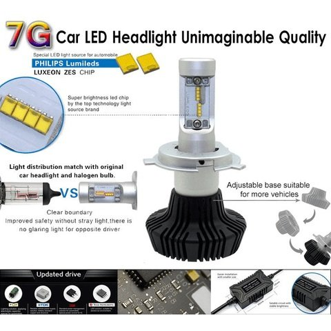 Car LED Headlamp Kit UP-7HL-9006W-4000Lm (HB4, 4000 lm, cold white) Preview 3