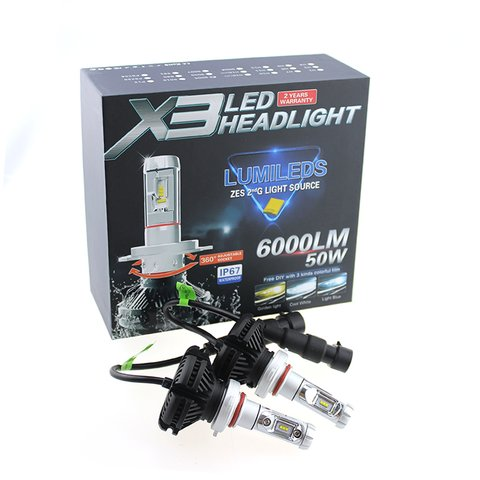 Car LED Headlamp Kit UP-X3HL-H7W-6000LM (H7, 6000 lm, cold white) Preview 2