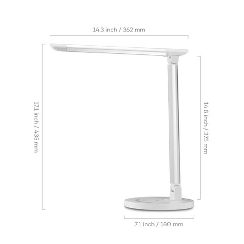 Настольная бестеневая лампа TaoTronics TT-DL13, белая, EU