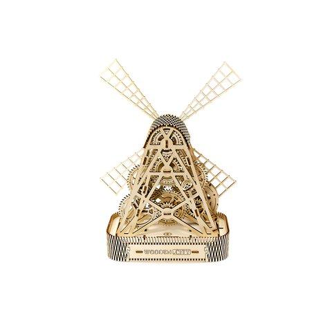 Деревянный механический 3D-пазл Wooden.City Мельница Превью 3