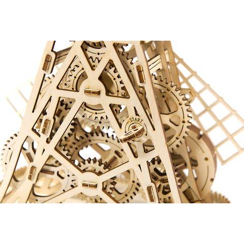 Деревянный механический 3D-пазл Wooden.City Мельница Превью 4