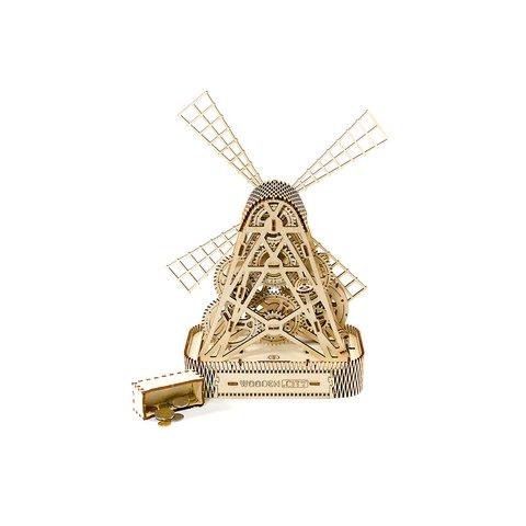 Деревянный механический 3D-пазл Wooden.City Мельница Превью 7