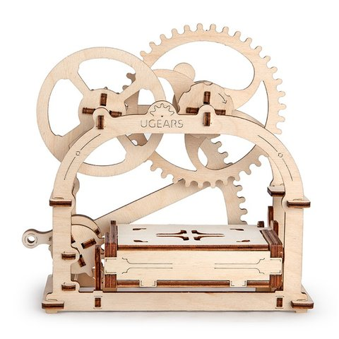 Mechanical 3D Puzzle UGEARS Business Card Holder Preview 6
